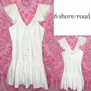 6 shore road preppy white Dress